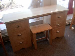 Toilet table with stool