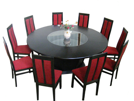 Dining room set. Table Doina + 10 upholstered chairs MD107/ 712