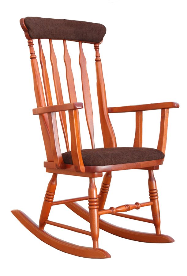 Rocking chair with increased seat