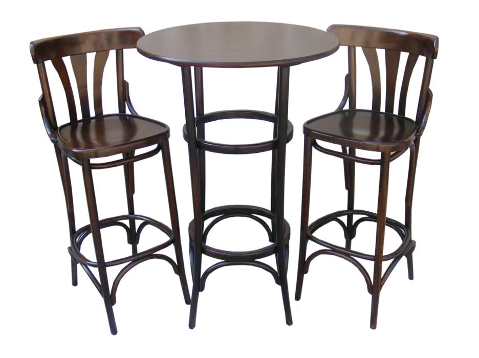 Bistro bar Set -Table + 2 bentwood bar stools 789