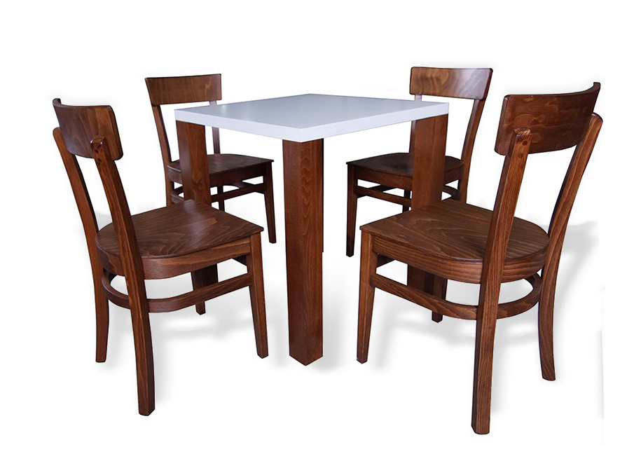 Aida table with 4 chairs 127