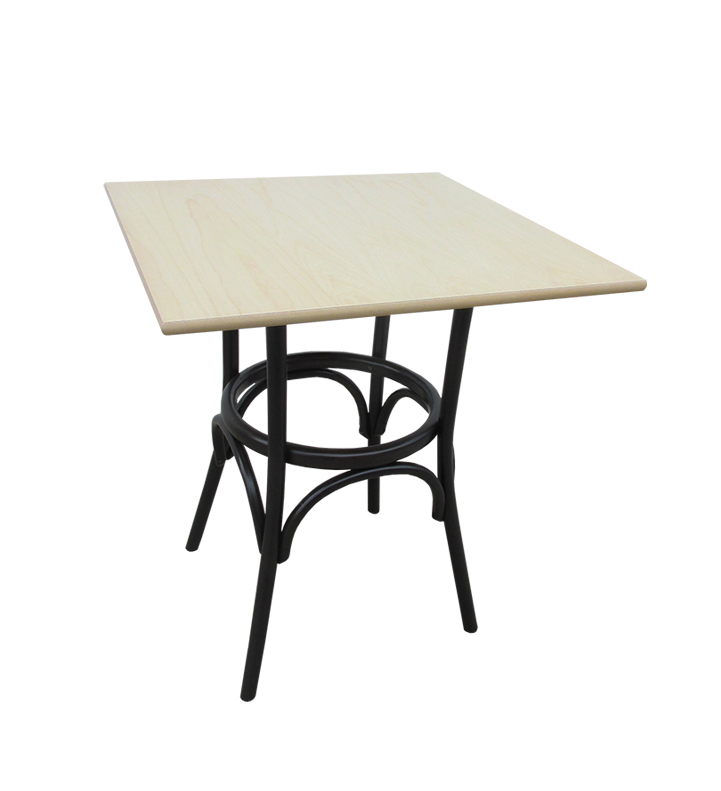Square bistro table in two colors