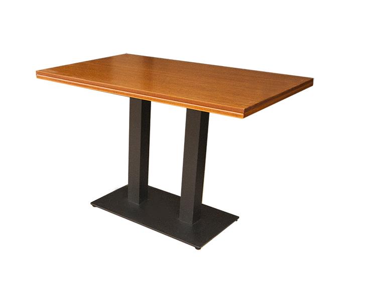 Masa cu doua picioare metalice