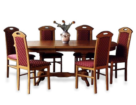 Table  Europa and 6 chairs MD 108 / 703