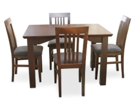 Freya Table and 4 upholstered chairs model Dublin