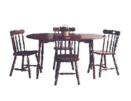 Table set 260 and 4 wood chairs GL1 / 708