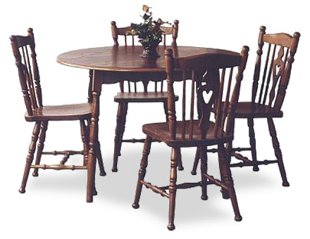 Set Round table with 4 dining chairs - Table Bonanza+ 4 Chairs MD 811 / 709