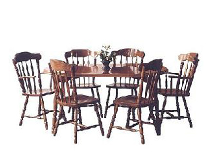 260 Extensible table with 6 dining chairs CY9 / 711