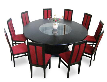 Set sufragerie. Masa Doina + 10 scaune tapitate MD107