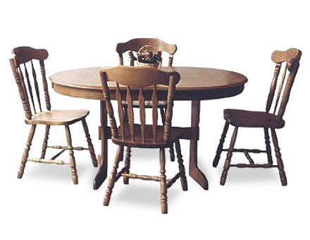 Oval table Monica with 4 chairs CY9 / 716