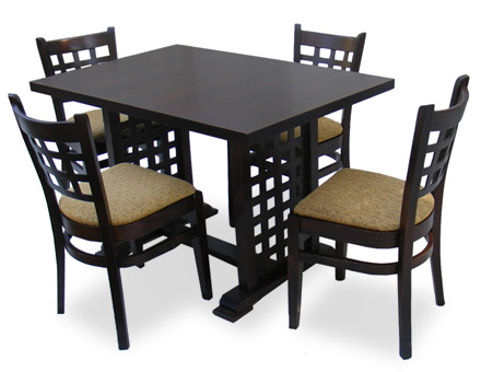 Dining furniture set: Table MD 170  D and 4 chairs / 714