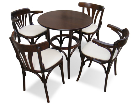 Bistro Table and 4 bentwood chairs