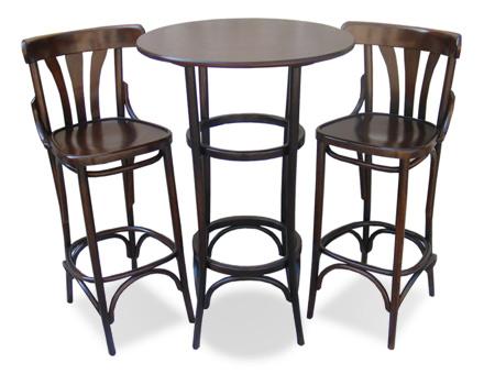 Set Bar Bistro - Masa inalta + 2 scaune bar 789