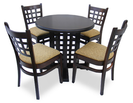 Café bar furniture set: Table and 4 chairs, MD 170 / 702