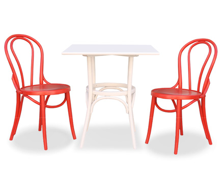 Bistro table with two 6016 chairs