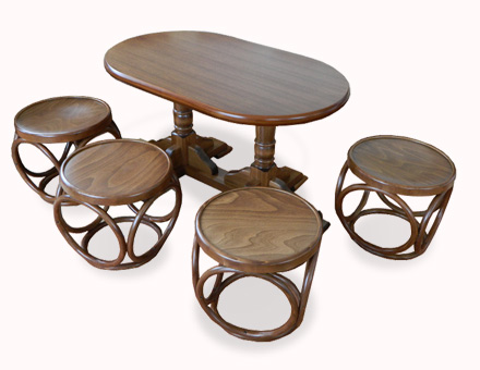 Coffee table with stools set