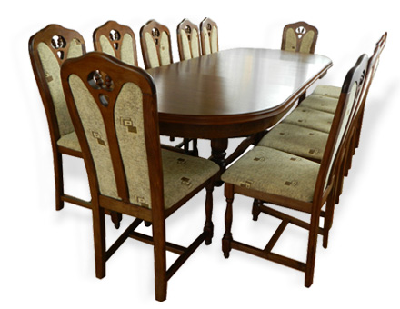 Europa Table with twelve MD 109 chairs