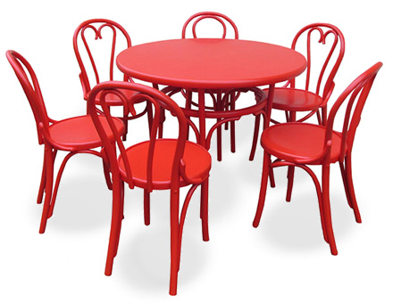 Bistro table with six  chairs