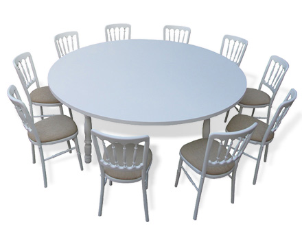 Round table with Mills chairs set