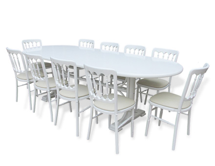 Sophia table with twelve Mills chairs set