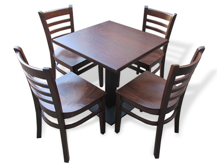 Metalic leg table with MD 137 chairs