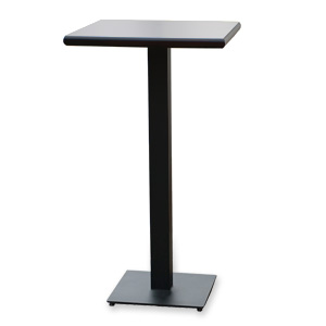 High table with steel leg