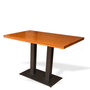 Table with two steel legs