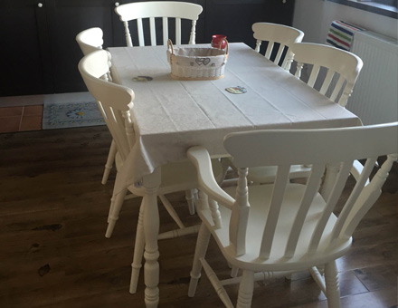 Antique chairs with Country 3 extendable table