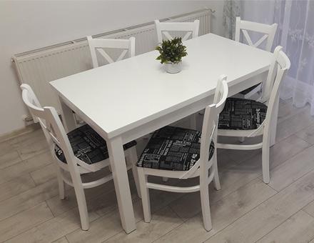 Masa Roxana extensibila cu sase scaune MD470
