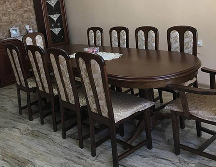 Europa fix table with  MD09 chairs
