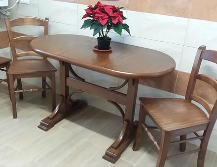 Masa cu elemente curbate dublu Pedestal si scaune MD103
