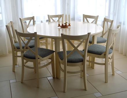 Masa Roxana rotunda cu scaune MD470 colorate