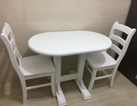 Masa dublu Pedestal cu scaune MD103