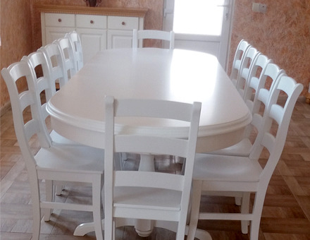 Fixed Europa table with MD103 chairs