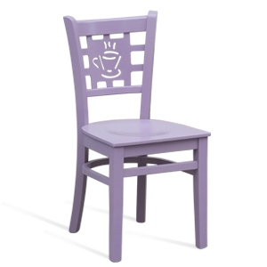 Colored MD 170 chair with coffee symbol